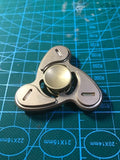 DIY Whirlwind brass Metal EDC Fidget Hand Spinner For Autism and ADHD Funny Anti Stress  Tri-spinner - CUEBALL JONES