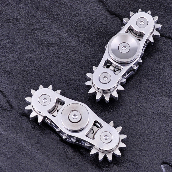 Ultimate Version Fidget Hand Spinner Three 3 Gears Hand Made Stainless Steel  Bi-spinner - CUEBALL JONES