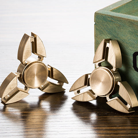 EDC Creative Figet Hand Spiner Triangle Brass Finger Toys Bar ADHD Pocket  Tri-spinner - CUEBALL JONES