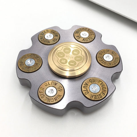 Stainless steel disc shape EDC Fidget  hand spinner Anti Stress  Rotary Spinner - CUEBALL JONES