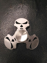 Punisher Skull Stainless EDC Fidget Hand Spinner For Autism and ADHD Anti Stress  Tri-spinner - CUEBALL JONES