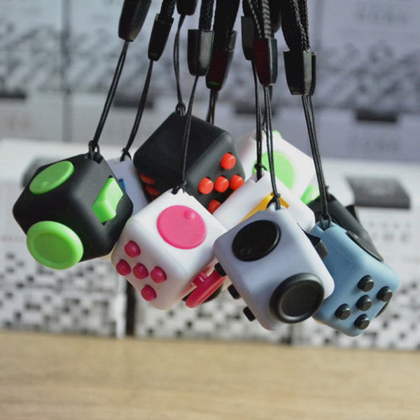 Mini Cube Relieves Anxiety and Stress For Adults Squeeze Fun Fidget Desk Spin Toys  Fidget Cube - CUEBALL JONES
