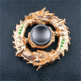 New golden Black dragon Metal Fidget Hand spinner for autism and ADHD Focus Stress Fingertip  Rotary Spinner - CUEBALL JONES