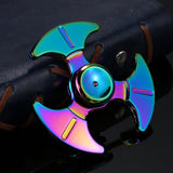 High Speed Rainbow Fidget Spinner Bearing Hand Spinner Finger  Anxiety Stress Adults Kid  Tri-spinner - CUEBALL JONES