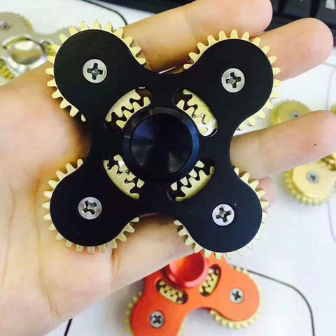 Metal SIX Gear Heavy EDC Fidget Hand Spinner Anti Stress Hand ADHD Autism  Tri-spinner - CUEBALL JONES