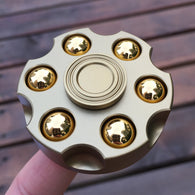 Super Long Spin Brass EDC Fidget Hand Spinner Finger Toys for ADHD Relief Stress  Rotary Spinner - CUEBALL JONES