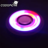 LED Flash Light Aluminum EDC Fidget Hand Spinner ADHD Autism Stress Focus  Bi-spinner - CUEBALL JONES