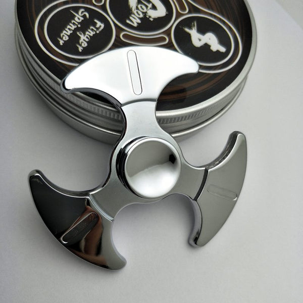 Zinc Alloy Spinners Bearing Fidget R188 Hand Spinner  Adult Aluminum  Tri-spinner - CUEBALL JONES