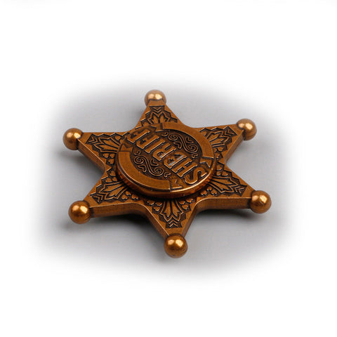 New Fidget Toy SHERIFF Captain rudder Hand Spinner Metal Finger Stress Spinner  Rotary Spinner - CUEBALL JONES