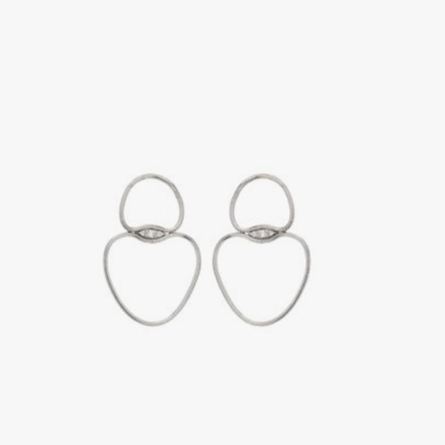 Fluid White Gold Earrings