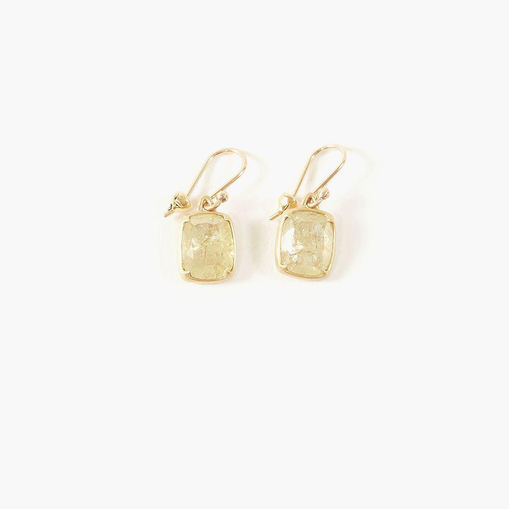Yellow Lacy Diamond Earrings