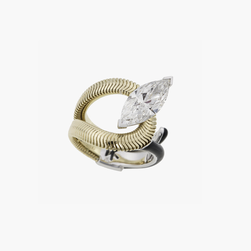 Marquis Diamond Feelings Ring