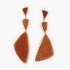 Lisa Roberts | Peach Drusy Earrings