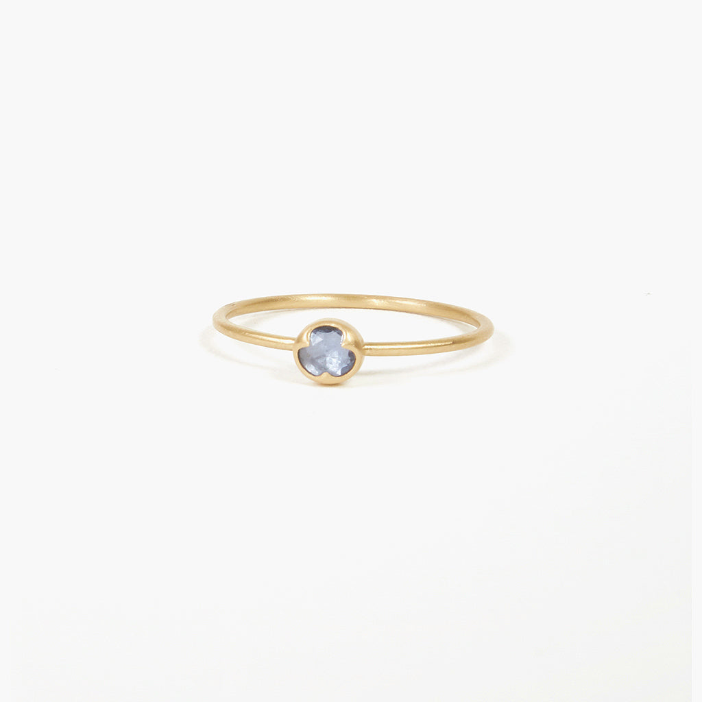 Pale Blue Sapphire Ring