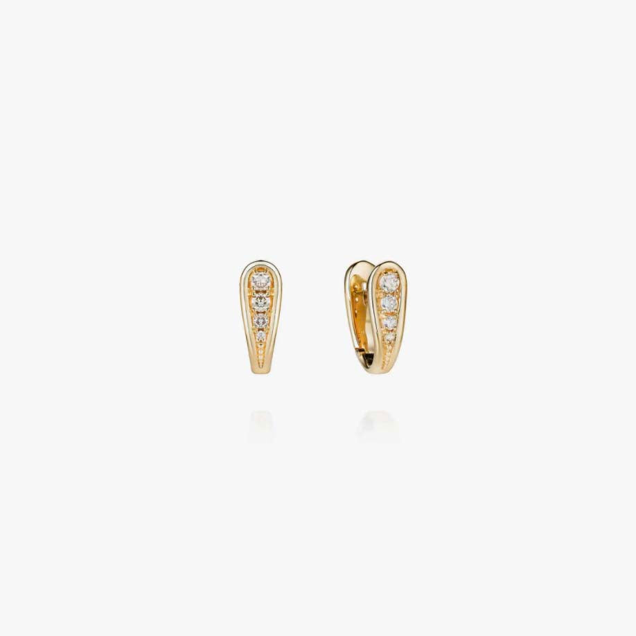 Fluid Diamonds Clip Earrings