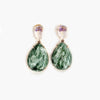 Lisa Roberts | Green Moss Agate Earrings