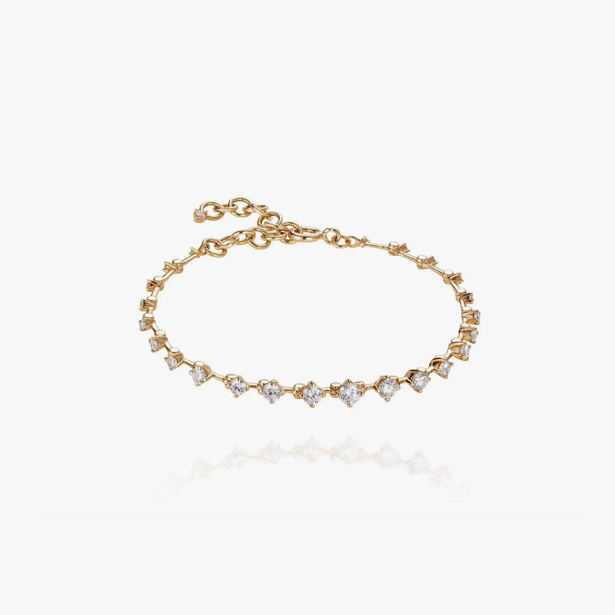 Sequence Bracelet with Diamonds