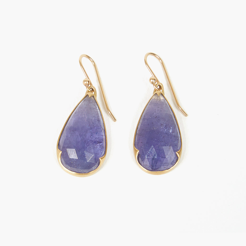 Pear Tanzanite Earrings