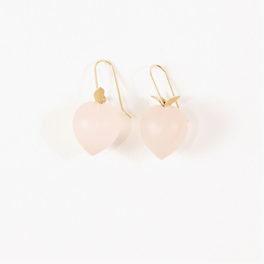 Rose Quartz Peach Earrings