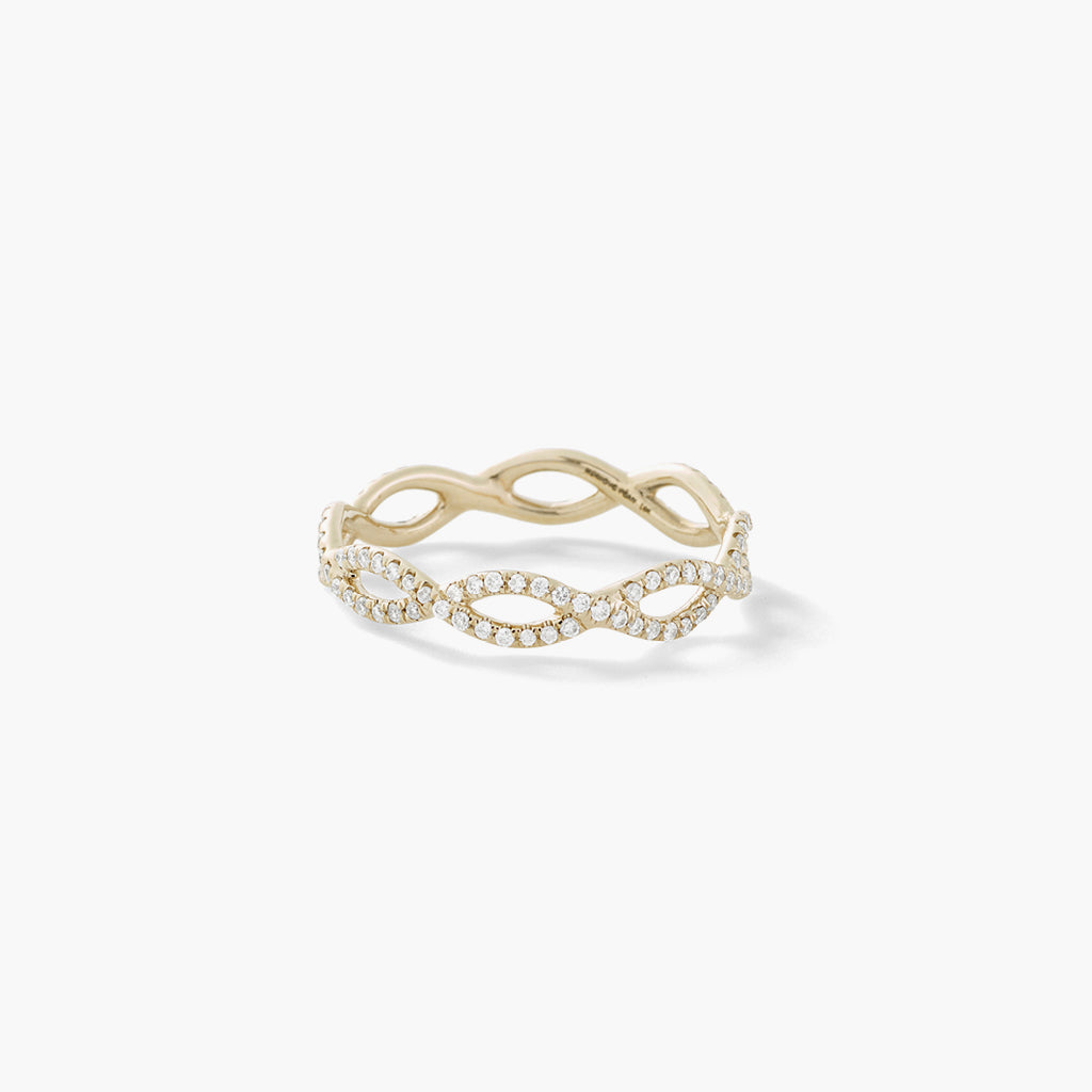 Interlocking Diamond Band