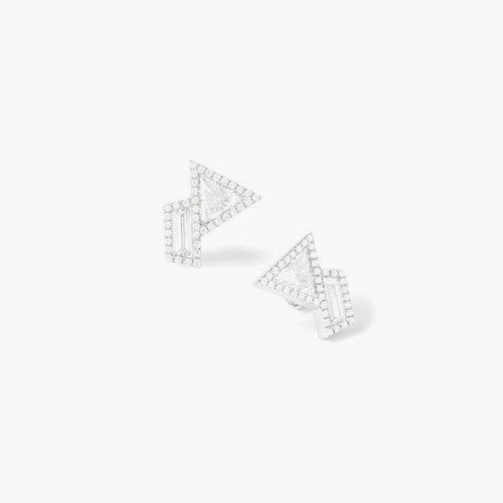 Trapezoid Diamond Earrings
