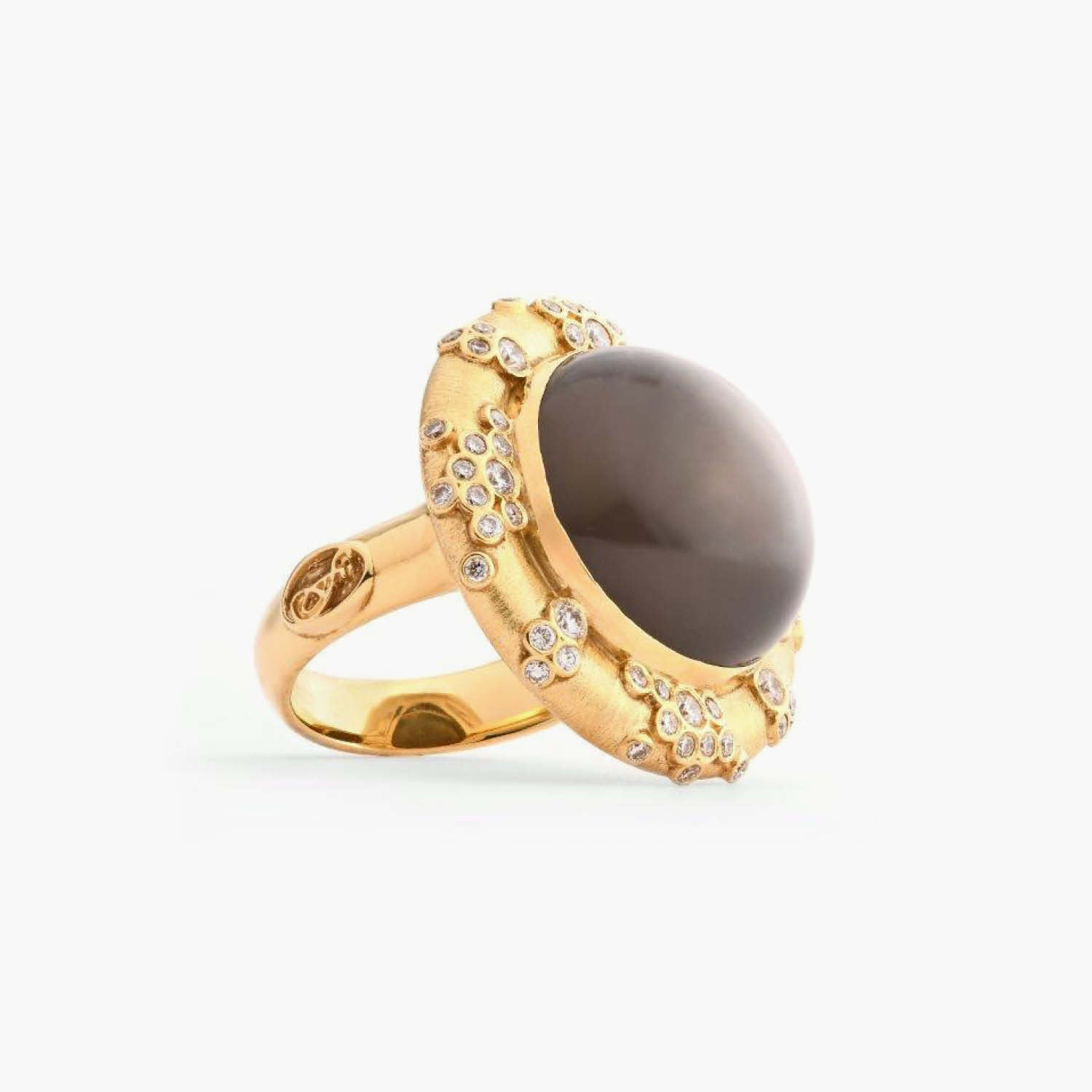 Constellation Collection Grey Moonstone Ring