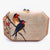 Marquetry Bird Clutch with Light Brown Diamonds