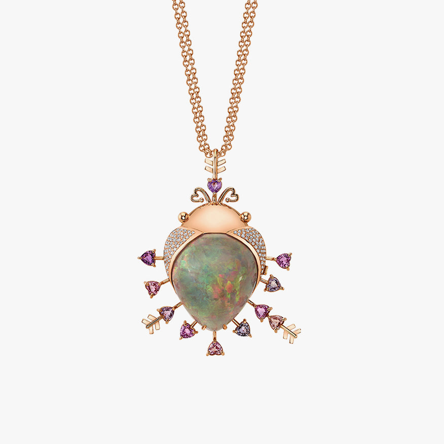 In My Heart Charm with Opal