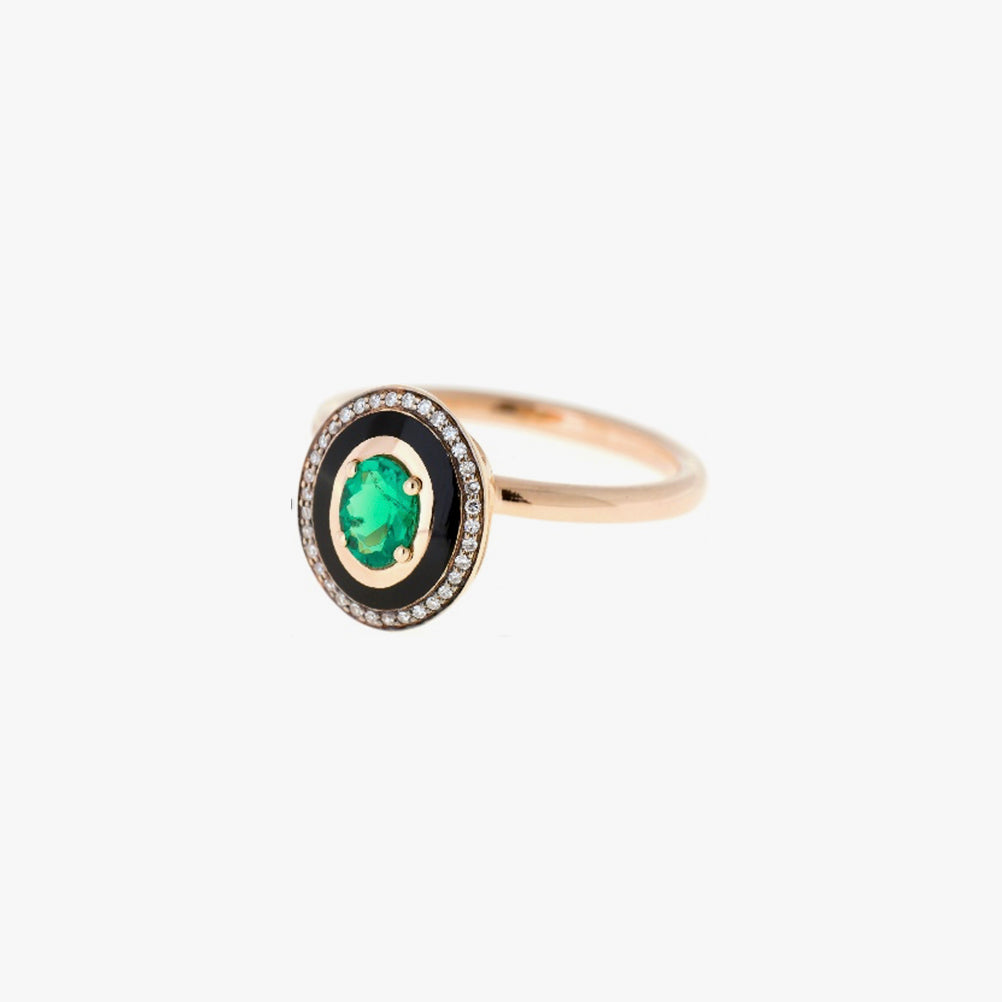 Mina Emerald Ring