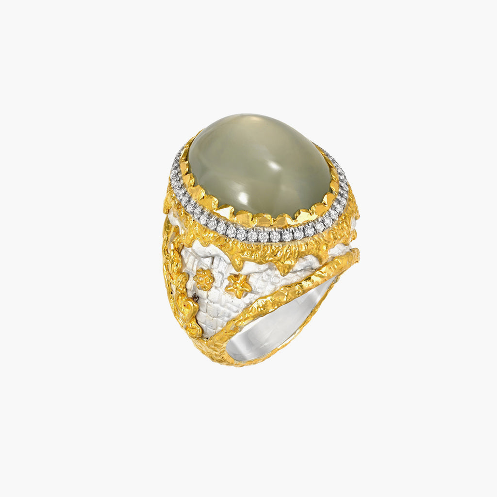 Moonstone Statement Ring