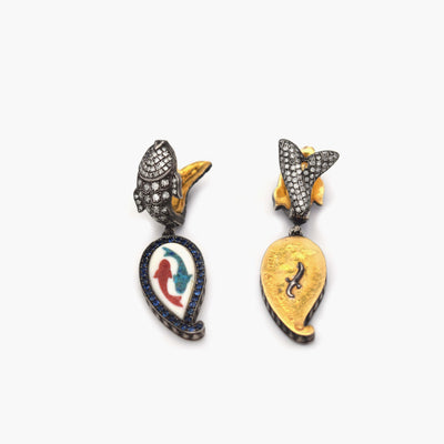 Fish Coin Earrings