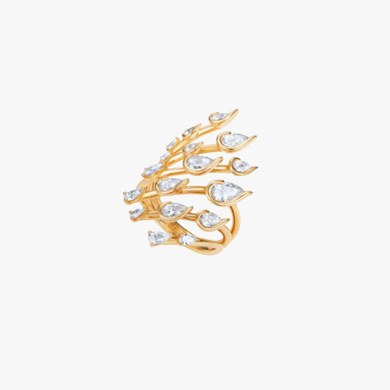 Flare Small Ring with Diamonds