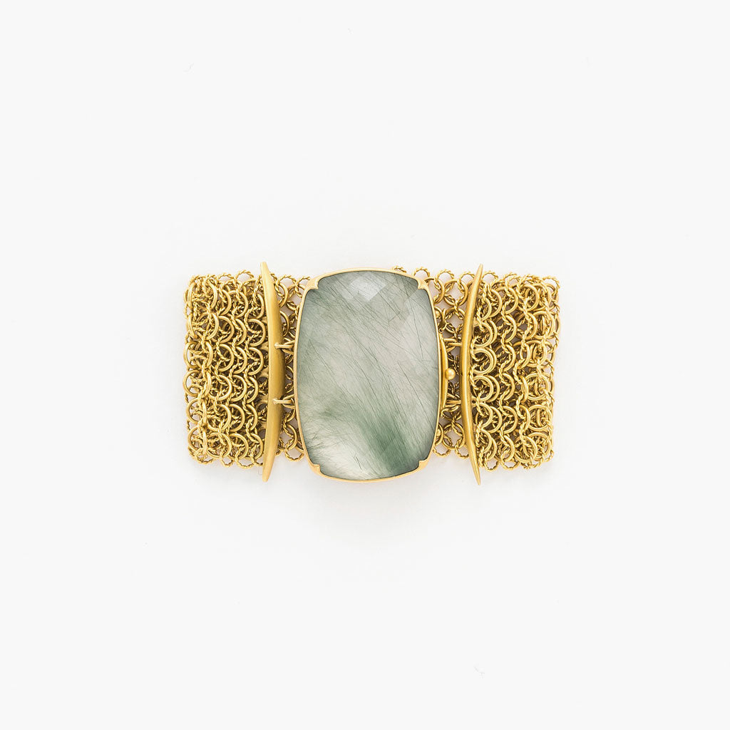 Green Rutilated Quartz Bracelet
