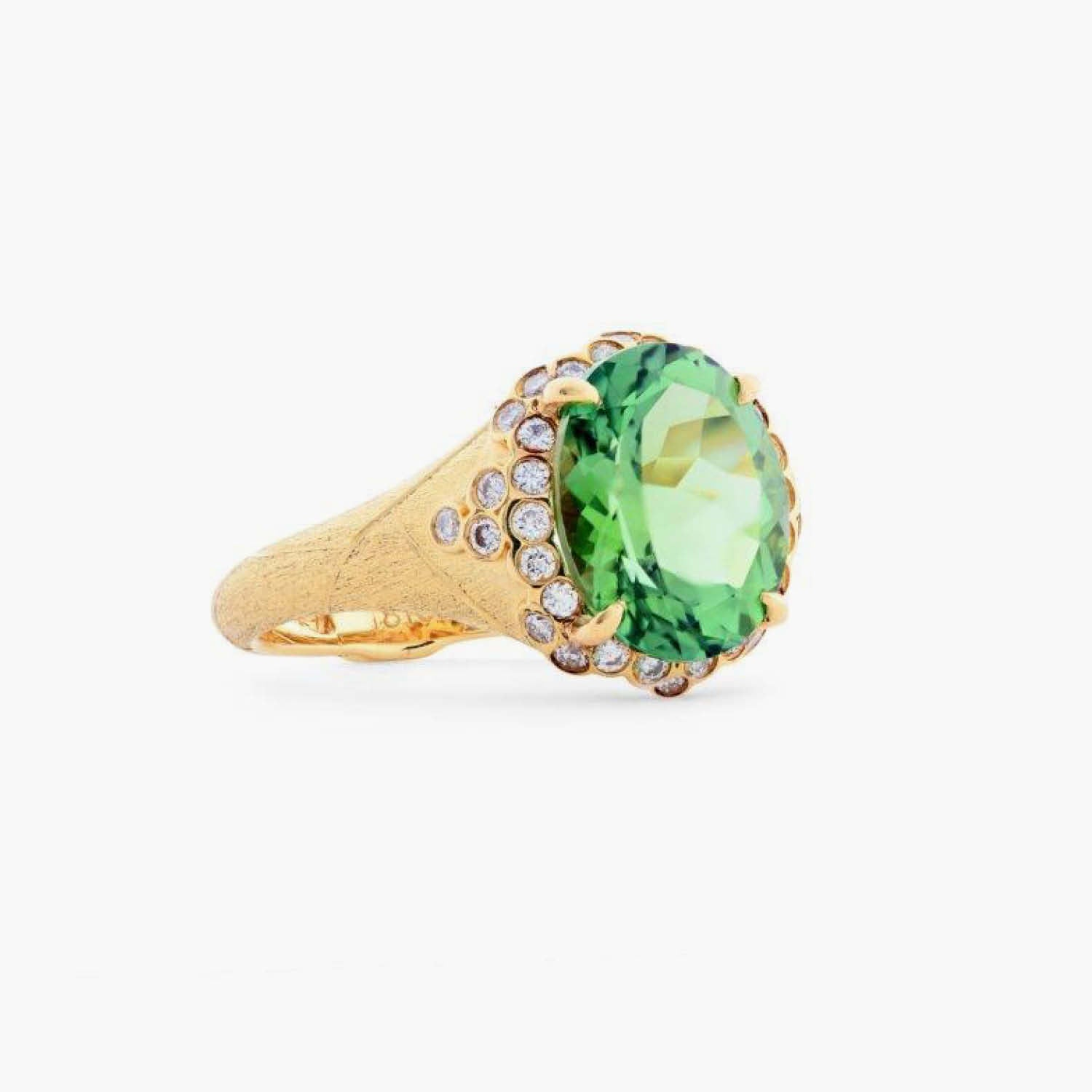 Constellation Ring with Green Tourmaline