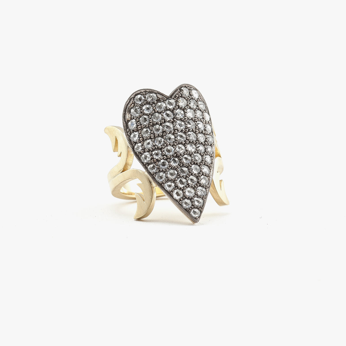 Heart Shaped Ten Table Ring