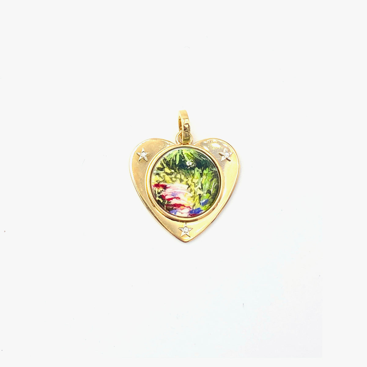 Hand Painted Heart Charm