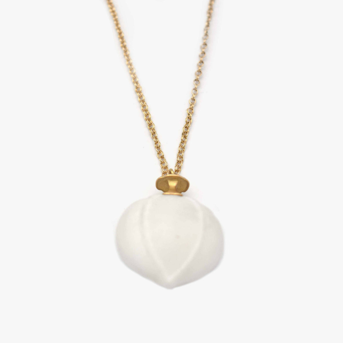 Marble Hickory Nut Necklace