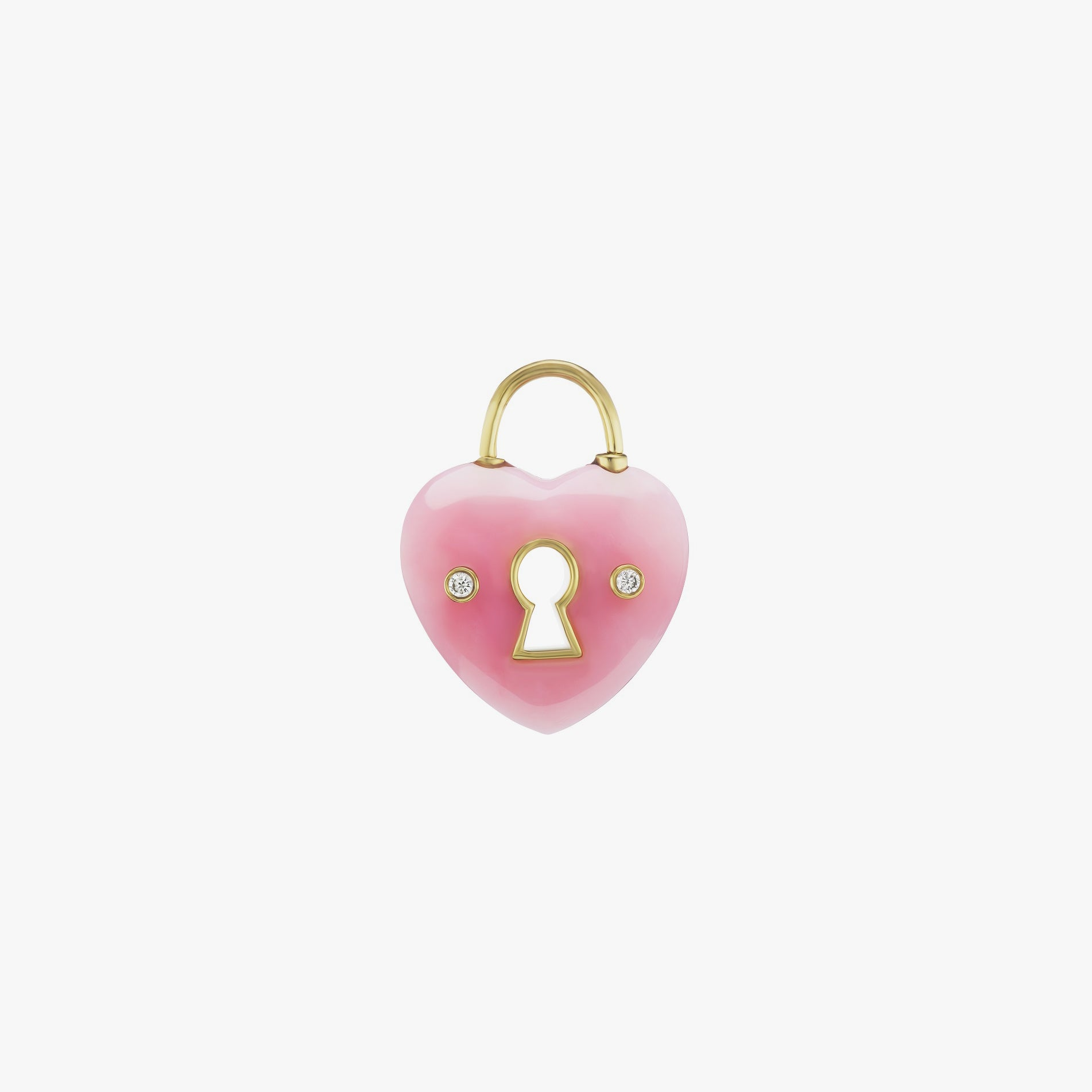 Rose Quartz Heart Charm