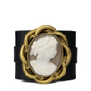 Leather Cameo Bracelet