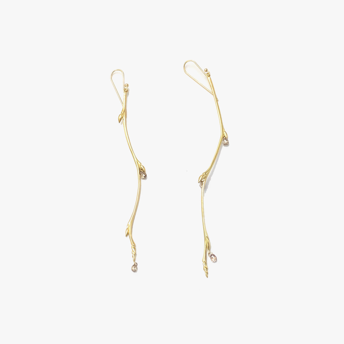 Large Bud Branch Earrings