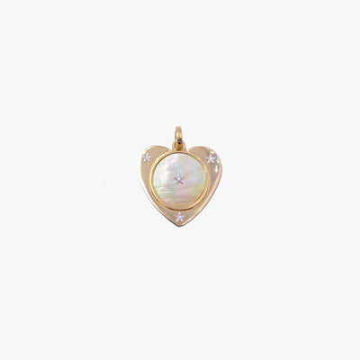 Mother of Pearl Heart Charm