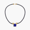 Black Diamond Beads and Tanzanite Necklace