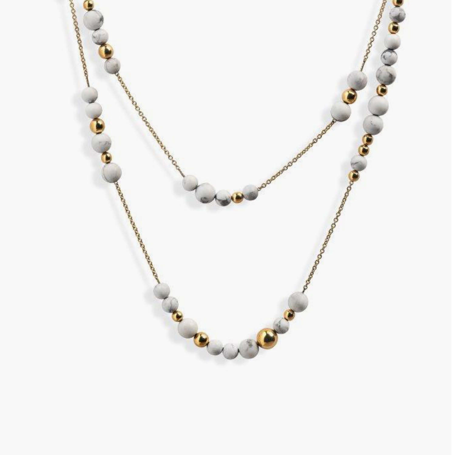 Constellation Collection Necklace with Howlite