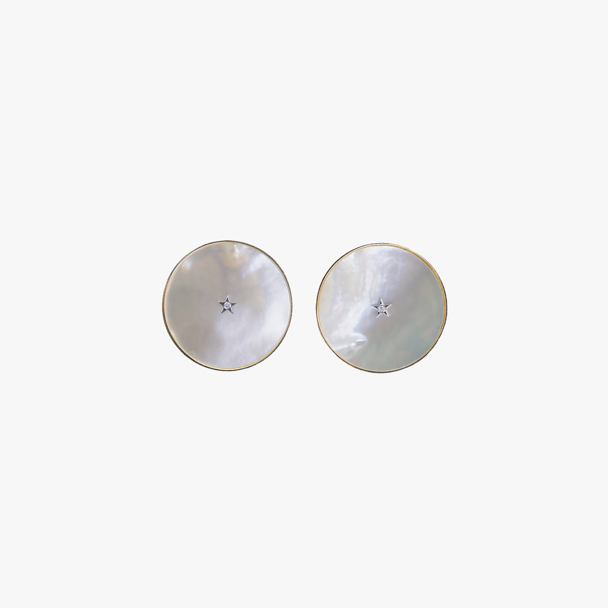 Ora Earrings in White Mother of Pearl