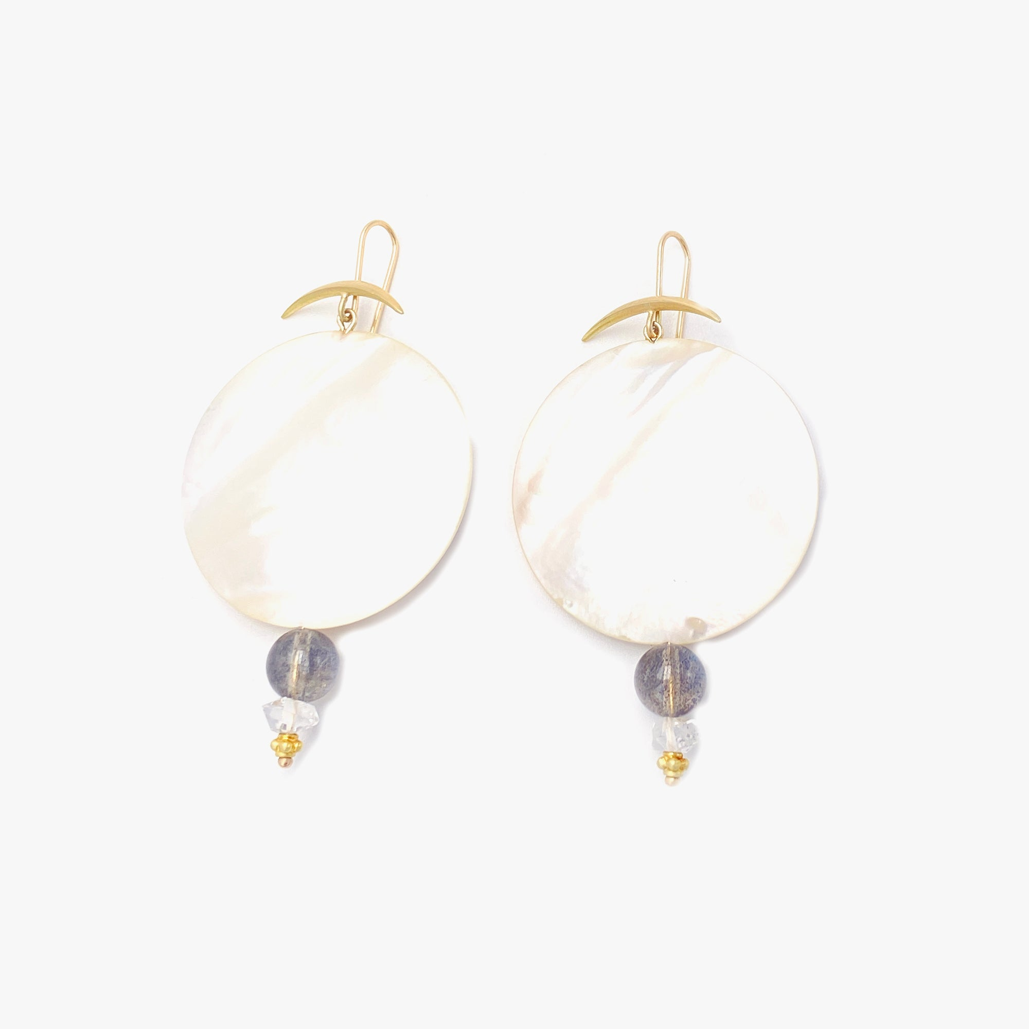 Mother of Pearl Full Moon Earrings