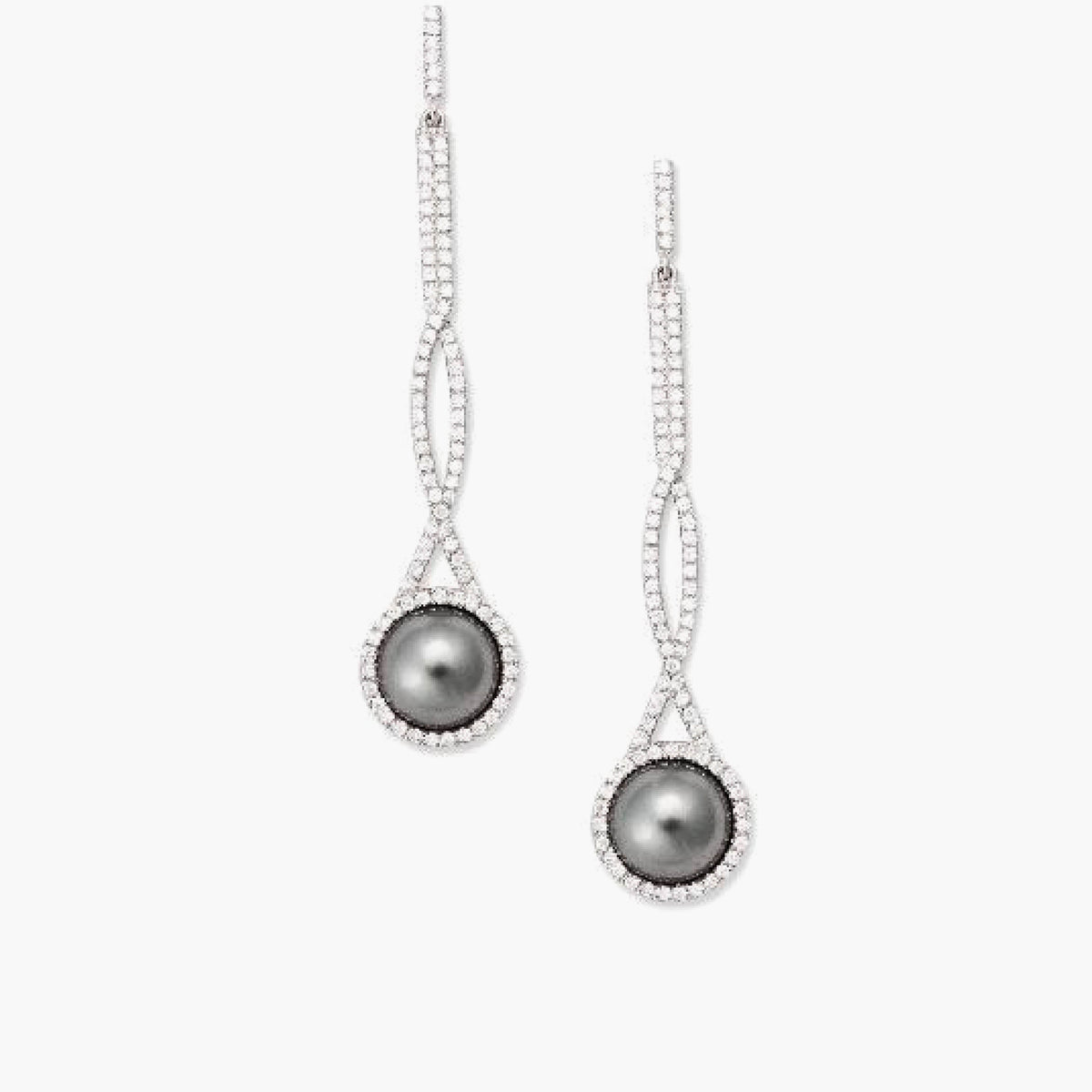 Grey Tahitian Pearl Earrings