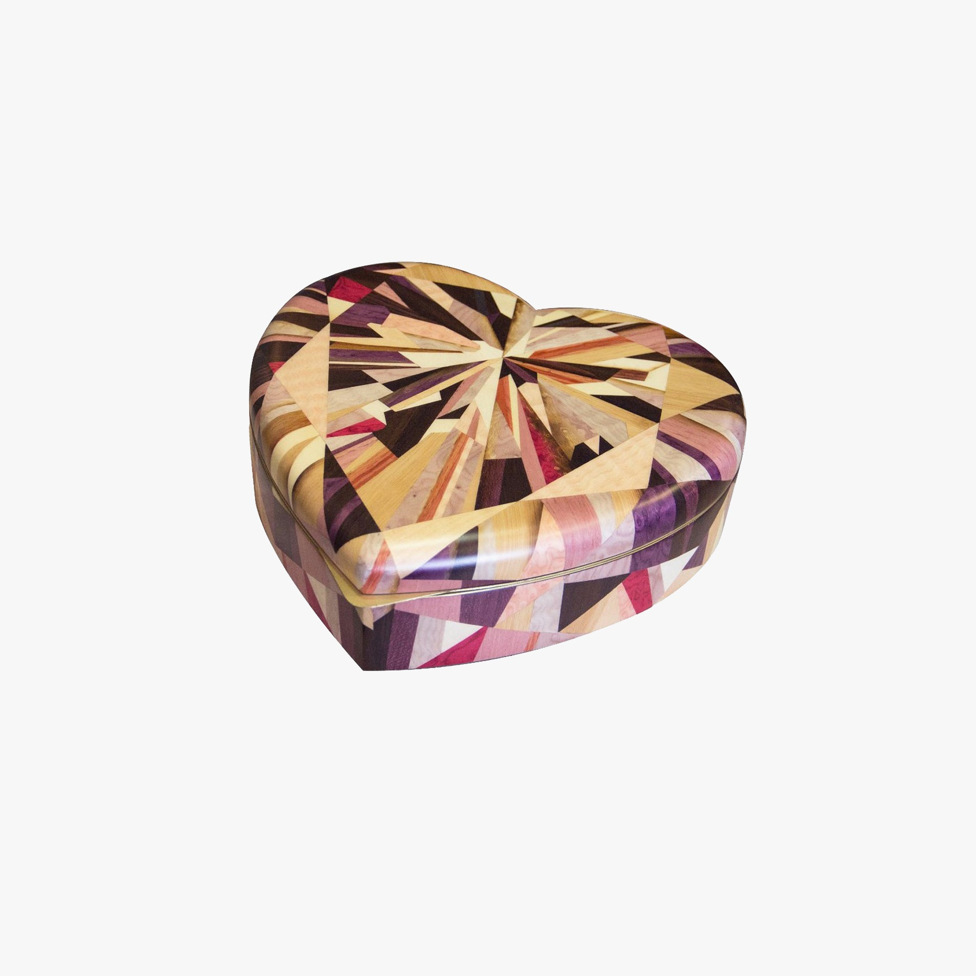 Purple Marquetry Jewelry Box