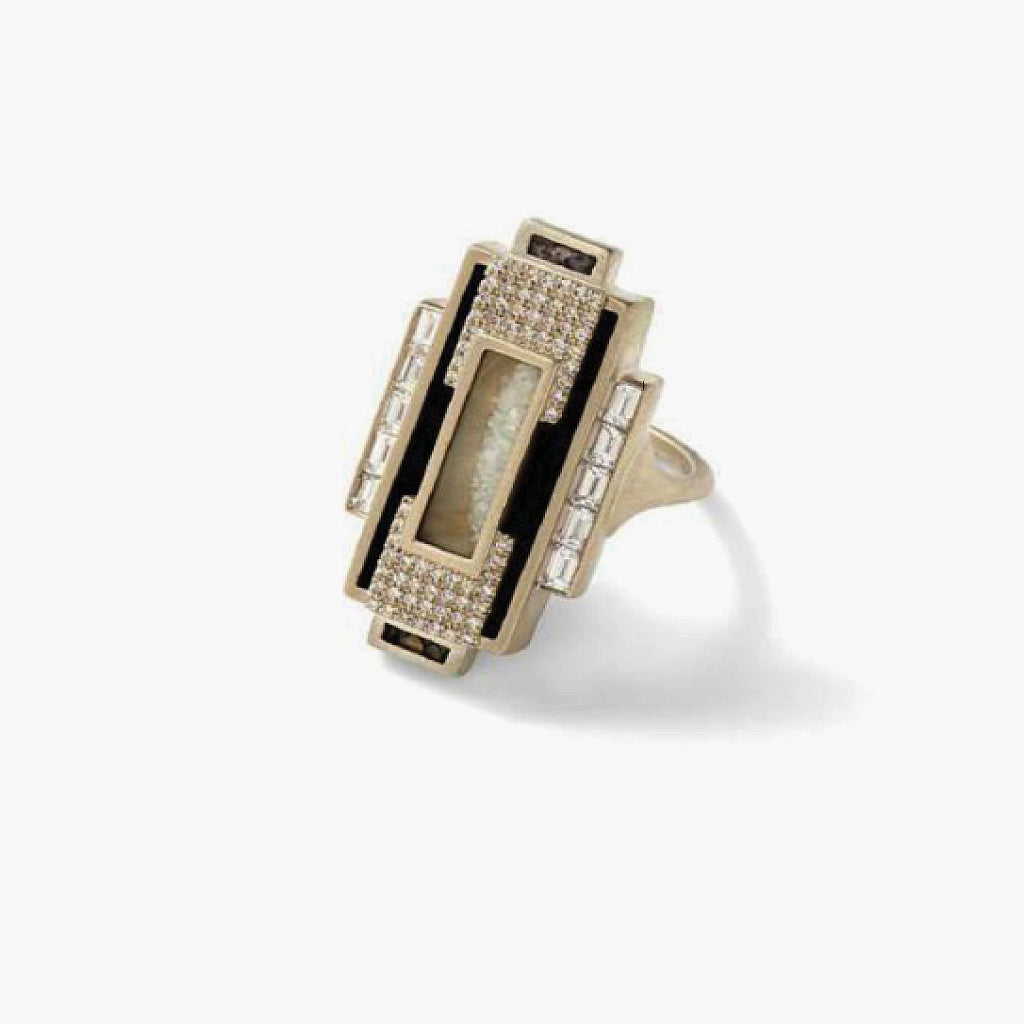 Geometric Art- Deco Ring