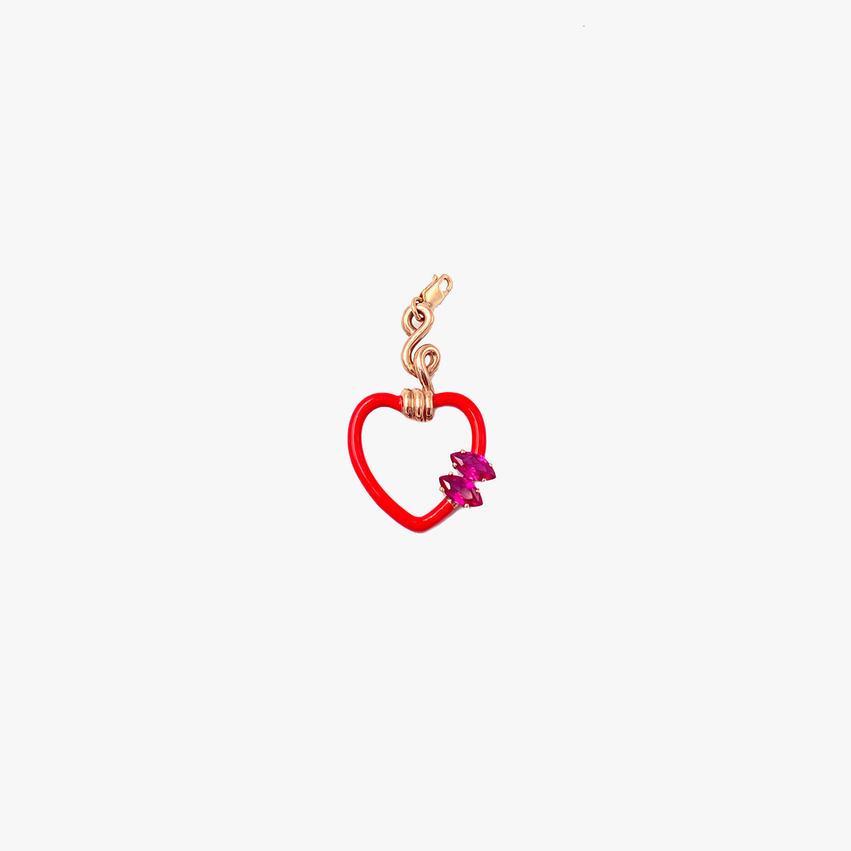 Red Enamel Heart Charm