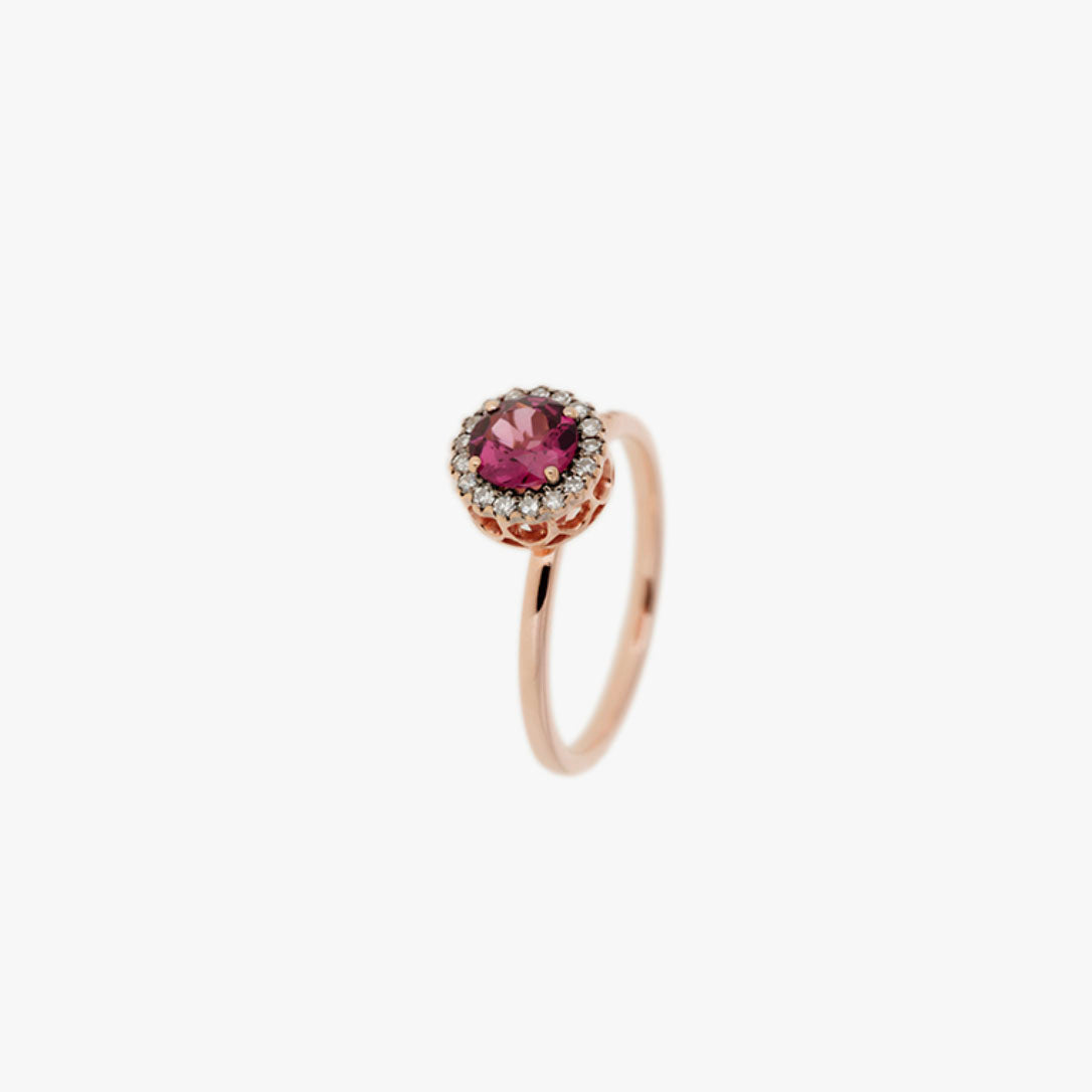 Beirut Rhodolite and Diamond Ring